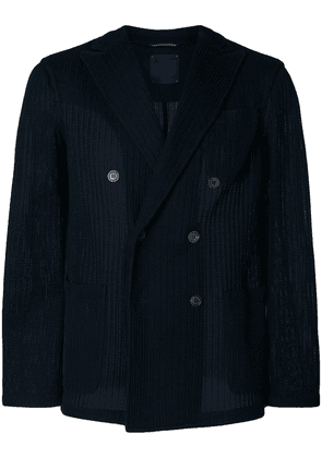 Altea knitted double breasted blazer - Blue