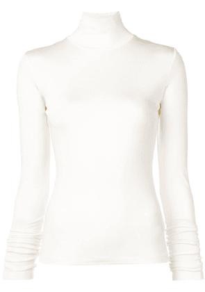 Mm6 Maison Margiela turtleneck fitted top - White
