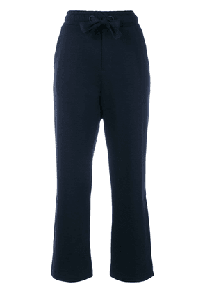 Moncler flared cropped track pants - Blue