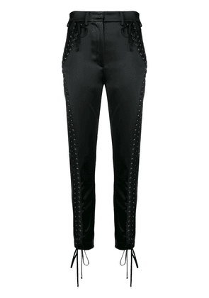 Dolce & Gabbana lace-up trousers - Black