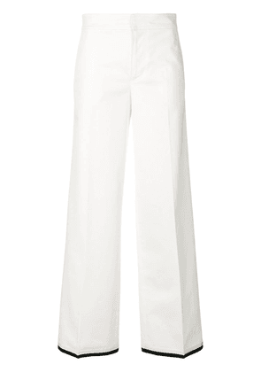 Moncler flared style trousers - White