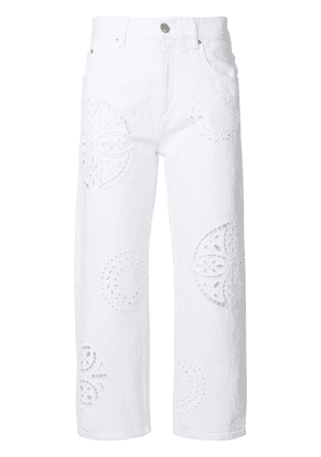 Isabel Marant cut-out denim jeans - White
