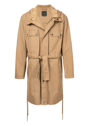 Craig Green belted trench coat - Brown