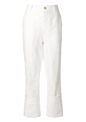 Loewe lace fisherman trousers - White