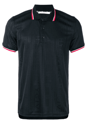Givenchy contrast stripe polo shirt - Black