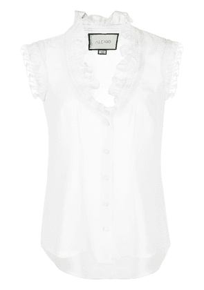 Alexis ruffle-trimmed blouse - White
