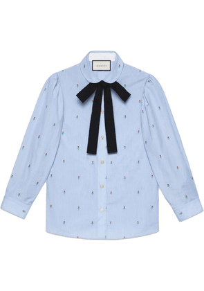 Gucci Rose fil coupé shirt - Blue