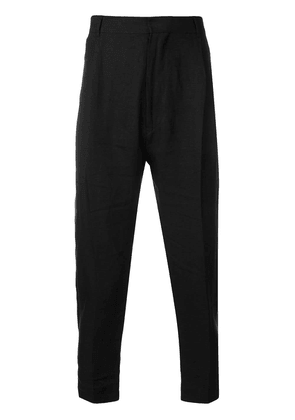 Ann Demeulemeester tapered trousers - Black