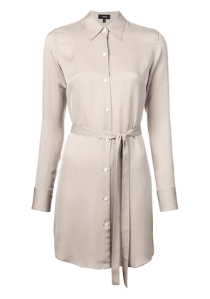 Theory belted shirt dress - Brown