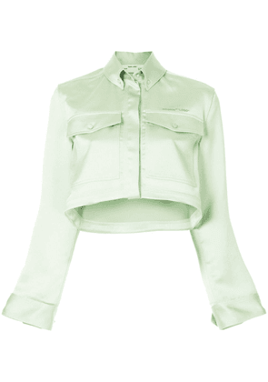 Off-White cropped jacket - Green