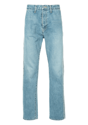 Doublet side panel straight leg jeans - Blue
