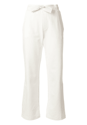 Moncler cropped track pants - White