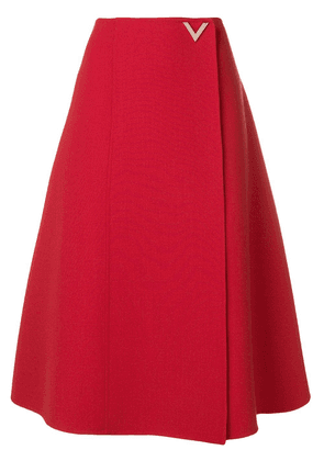 Valentino V hardware skirt - Red