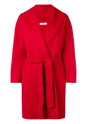 'S Max Mara belted robe coat - Red