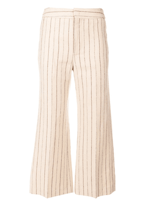 Isabel Marant cropped striped trousers - Neutrals
