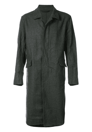 Casey Casey straight-fit buttoned coat - Grey