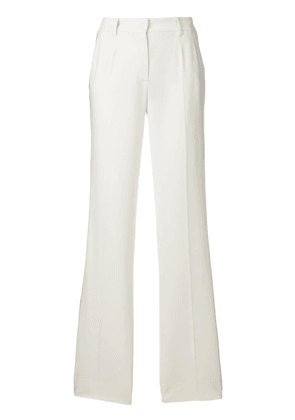 Dolce & Gabbana stripe panel flared trousers - Neutrals