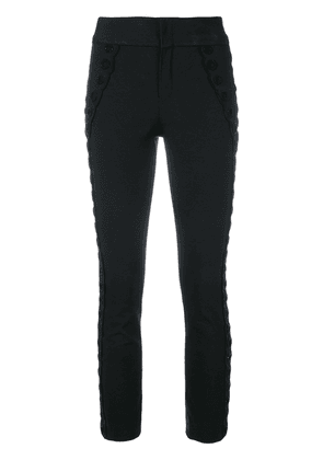 Isabel Marant cropped scalloped bead trousers - Black