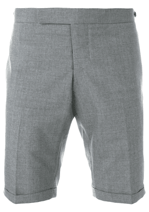 Thom Browne Low Rise Skinny Short With Red, White And Blue Selvedge
