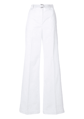Moncler belted wide leg trousers - White