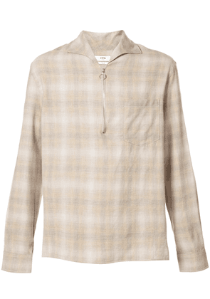 Cmmn Swdn Lead checked shirt - Brown