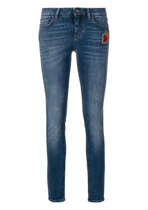 Dolce & Gabbana skinny jeans with Sacred Heart patch - Blue