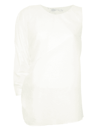 Christopher Esber single sleeve gathered top - White