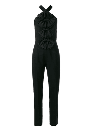 Givenchy halter bow jumpsuit - Black