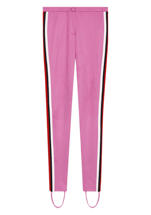 Gucci Jersey stirrup leggings with Web - Pink
