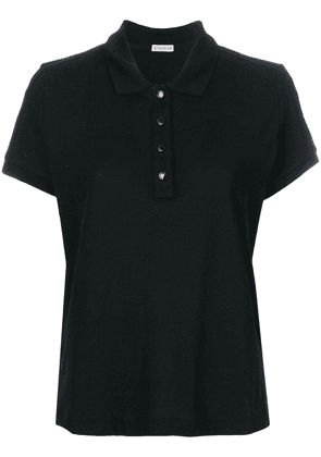 Moncler classic fitted polo shirt - Black