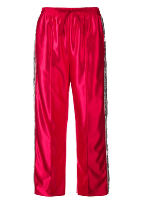 Gucci sequin stripes track trousers - Red