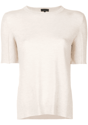 Cashmere In Love Sahar shortsleeved knitted top - Neutrals