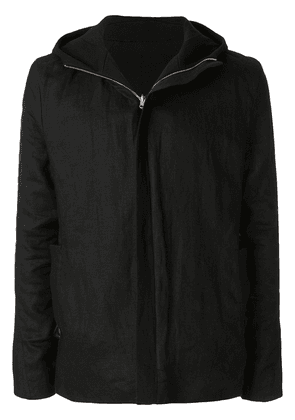 A New Cross reversible hooded jacket - Black