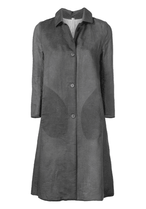 A Diciannoveventitre single-breasted cropped sleeve coat - Grey