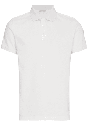 Moncler Knitted Polo Shirt - White
