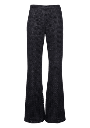 Christian Siriano flared tailored trousers - Blue