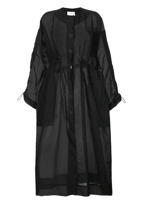 Christopher Esber oversized single breasted coat - Black