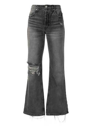 Adaptation ripped wide leg jeans - Grey