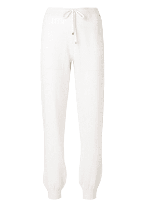 Barrie Romantic Timeless cashmere jogging trousers - White