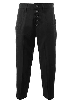 Christopher Nemeth cropped buttoned trousers - Black