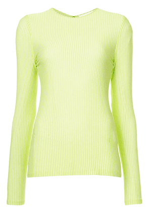 Christian Siriano long-sleeve fitted sweater - Green