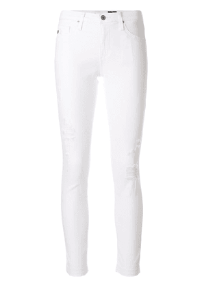 Ag Jeans distressed skinny jeans - White
