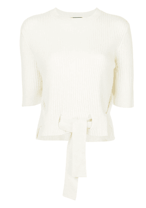 Cashmere In Love cashmere Dee crop sweater - Neutrals