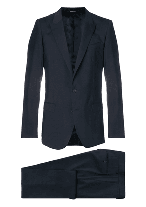 Dolce & Gabbana buttoned up formal suit - Blue