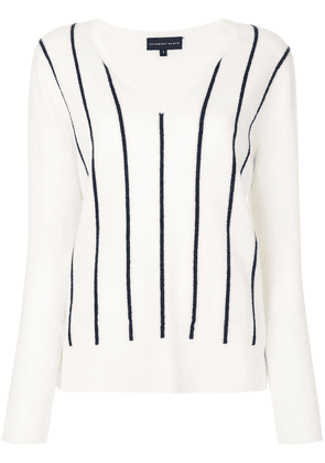 Cashmere In Love Sanem striped jumper - White