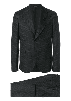 Dolce & Gabbana patterned formal suit - Black