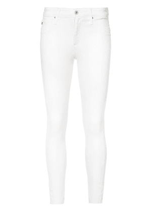 Ag Jeans cropped super skinny jeans - White