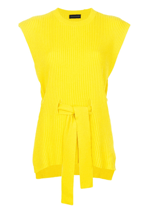 Cashmere In Love cashmere Jaqueline open side vest - Yellow