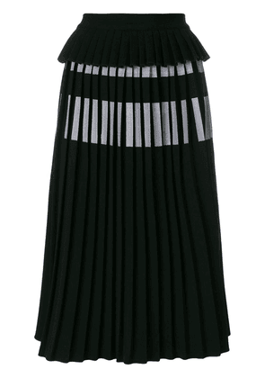 Ioana Ciolacu pleated midi skirt - Black