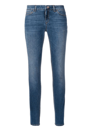 Dolce & Gabbana skinny jeans with floral button - Blue